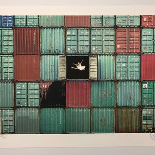 The Ballerina Jumping in Containers, Le Havre, France art for sale