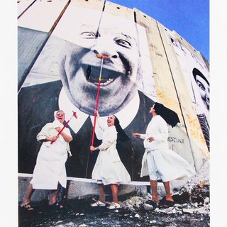 28 MILLIMÈTRES, FACE 2 FACE, NUNS IN ACTION, SEPARATION WALL, SECURITY FENCE, PALESTINIAN SIDE, BETHLEHEM art for sale