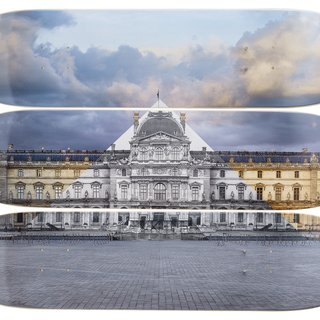 La Pyramide, 19 Juin 2016, 21H23 © Pyramide, Architecte I.M. Pei, Musée du Louvre, Paris, France, 2016 art for sale