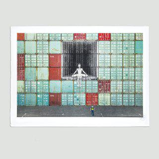 In the container wall, Le Havre, France, 2014 art for sale