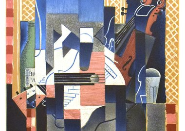 work by Juan Gris - Violon et Guitare