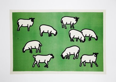 work by Julian Opie - Sheep