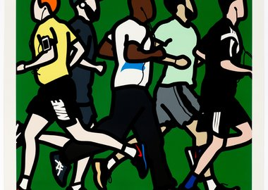 work by Julian Opie - Running men