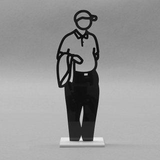 Statuette (Man with Jacket) art for sale