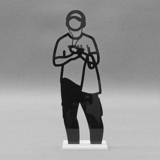 Statuette (Man with Headphones) art for sale