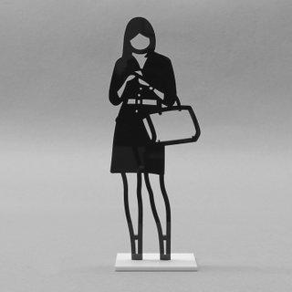 Statuette (Woman with Handbag) art for sale