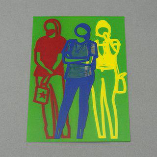 Standing People (lenticular) art for sale