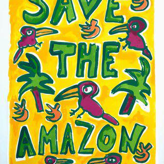 Save The Amazon (Yellow) art for sale