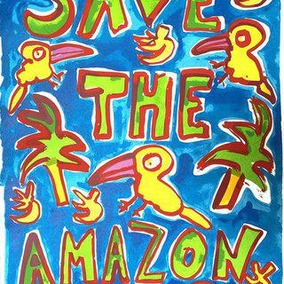 Save The Amazon (Blue) art for sale