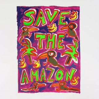 Save the Amazon (Pink) art for sale