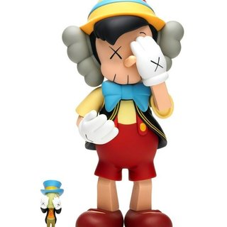 Pinocchio & Jiminy Cricket art for sale
