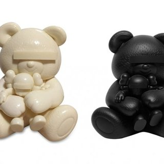 KAWS, KAWS, Undercover Bear (set of Black and White)