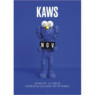 KAWS x NGV BFF Poster (Blue) art for sale