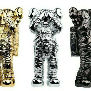 Kaws Holiday Space: complete set (gold, silver, black). 20th anniversary edition. art for sale