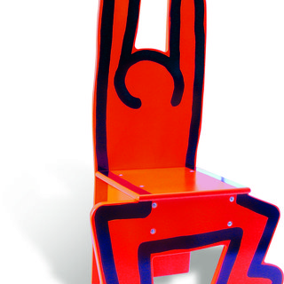 Wooden Child's Chair (Red) art for sale