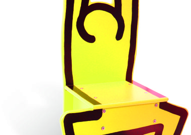 Keith Haring - Wooden Child's Chair (Yellow)