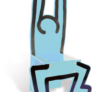 Wooden Child's Chair (Blue) art for sale