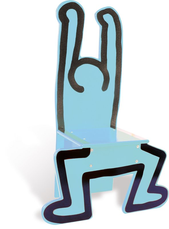 by keith_haring - Wooden Child's Chair (Blue)