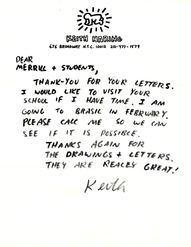 Keith Haring Handwritten Hand Signed Letter On Private Stationery Ca 1987