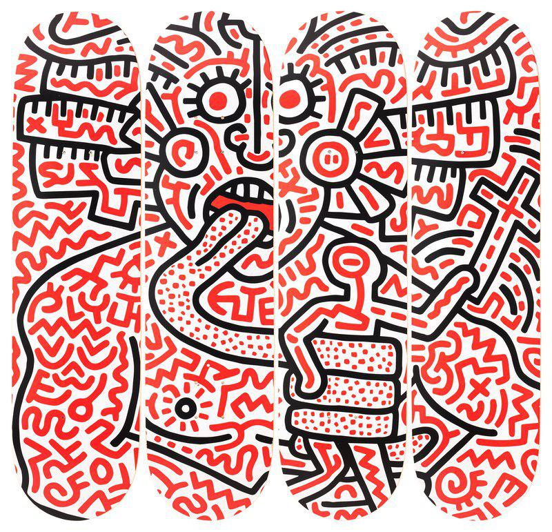 by keith_haring - Man and Medusa
