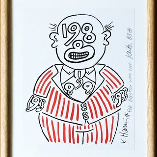 1988 Man, Signed and inscribed to Dorothy Berenson Blau art for sale