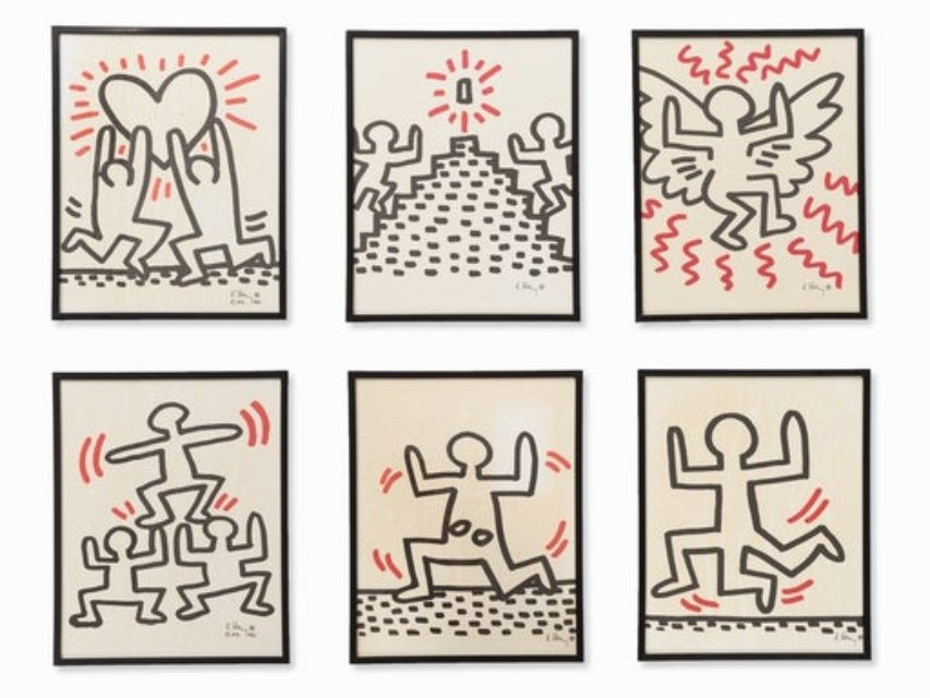 Keith Haring, Bayer Suite (6 parts)