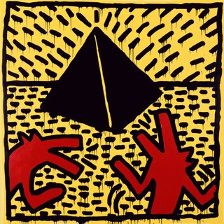 Untitled (Red Dogs with Pyramid) art for sale