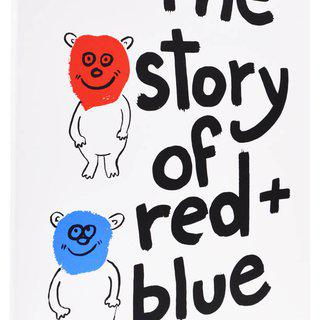 The Story of Red and Blue art for sale