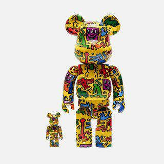 Bearbrick - JEAN-MICHEL BASQUIAT (V5) 400% & 100% art for sale