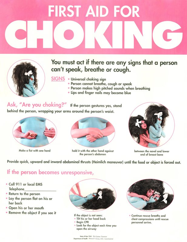 Kembra Pfahler, Traditional Manditory Customized Choking Poster
