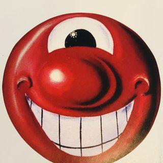 Red Smiley Face art for sale
