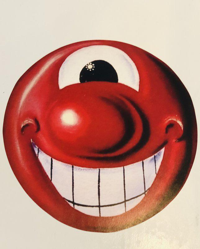 by kenny_scharf - Red Smiley Face