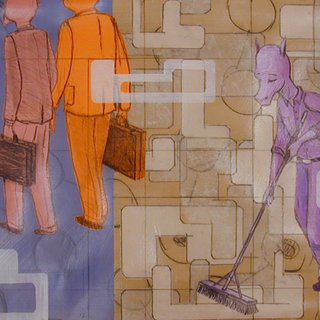 Untitled (with Purple Janitor) art for sale
