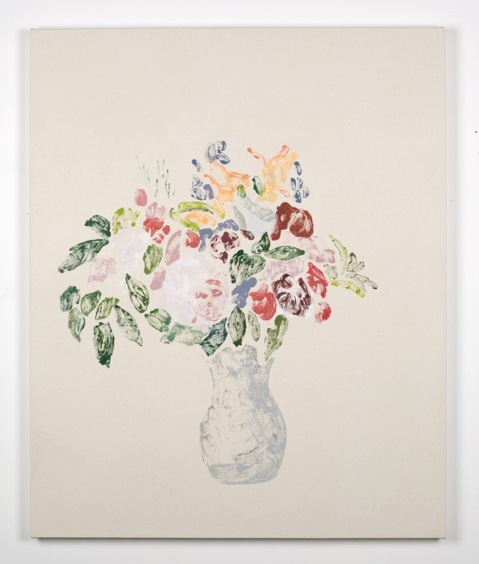 Kristen Van Deventer Vase Of Flowers After Cezanne After Redon