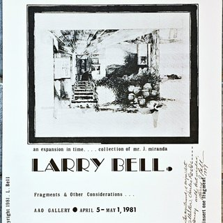 Larry Bell (hand signed and warmly inscribed) art for sale