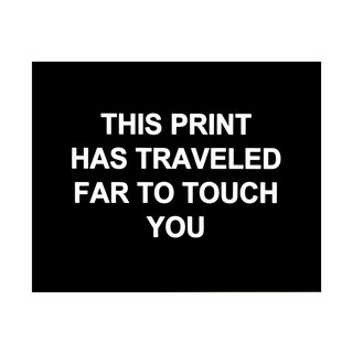 This print has traveled far to touch you art for sale