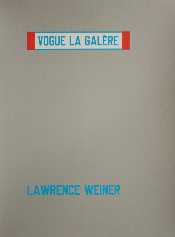 by lawrence_weiner - Vogue La Galère
