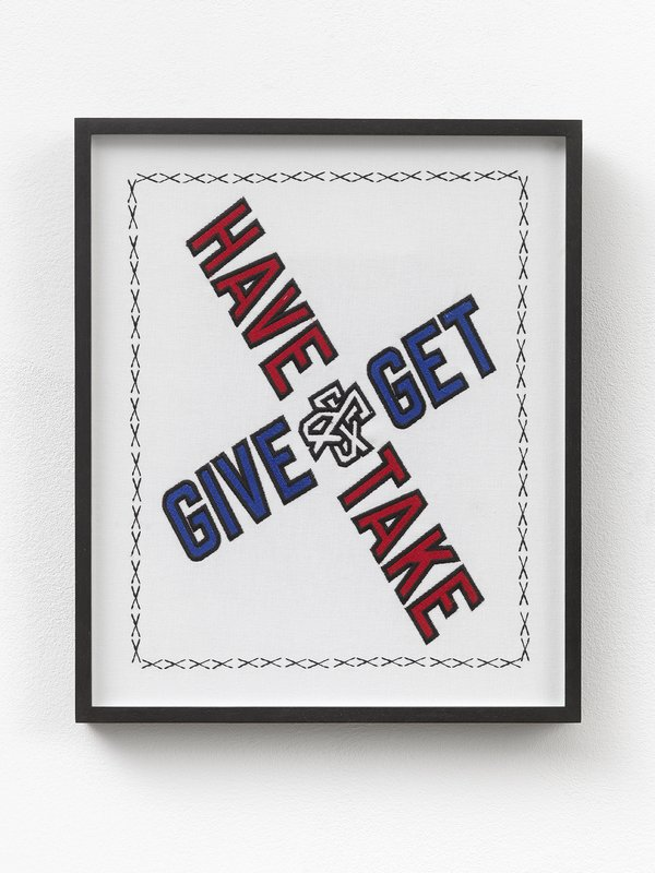 by lawrence_weiner - Give & Get