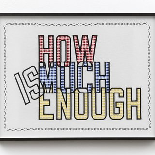 Lawrence Weiner, How much is enough
