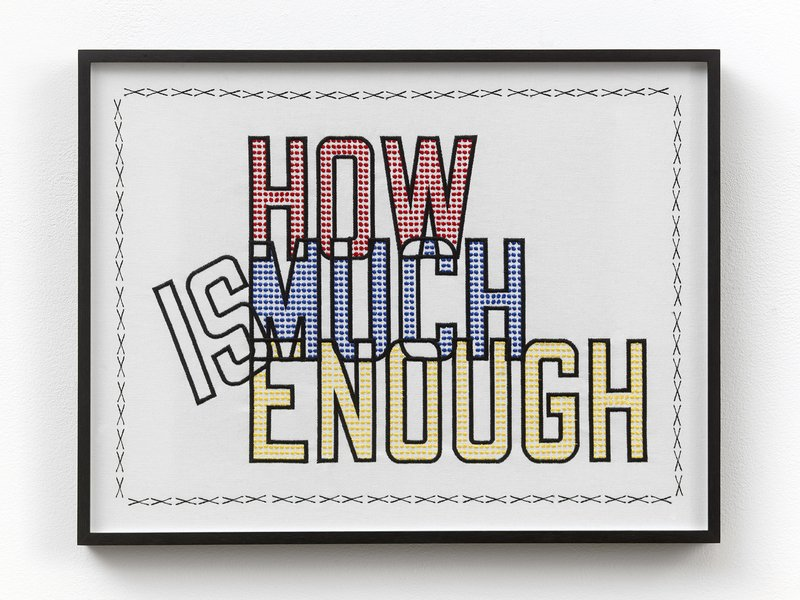 main work - Lawrence Weiner, How much is enough