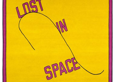 work by Lawrence Weiner - Lost in space