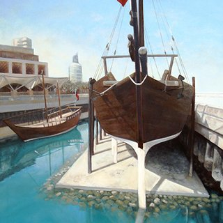 Dry Dock Dhow art for sale