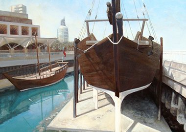 work by Lewis Chapman - Dry Dock Dhow