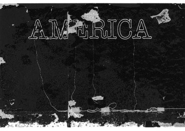 work by Glenn Ligon - Untitled (America)