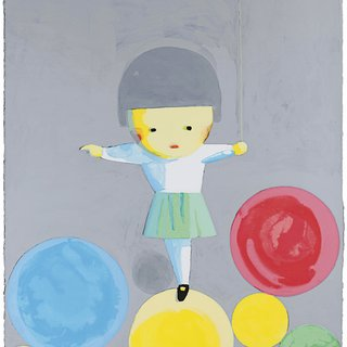 Little Girl With Balloons art for sale