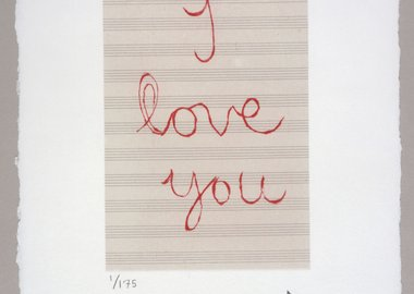 work by Louise Bourgeois - I Love You