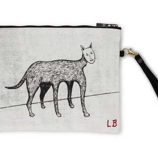 Self Portrait Cat Pouch art for sale