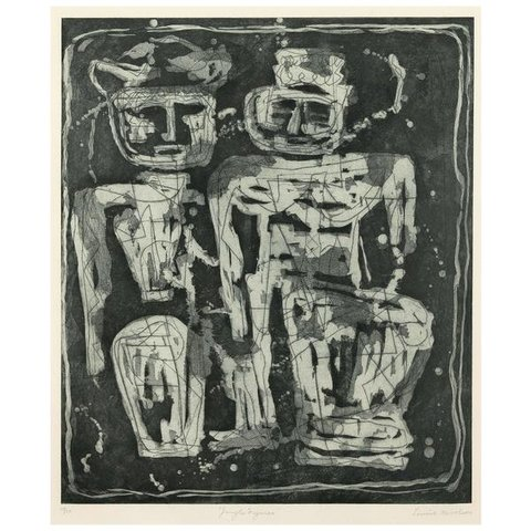 Louise Nevelson - Jungle Figures, Print
