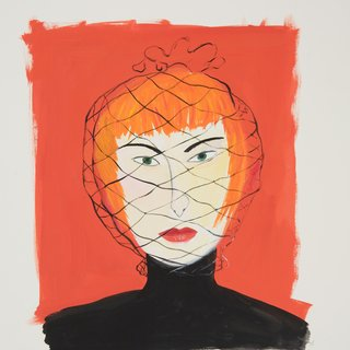 Maira Kalman, Woman with Face Net