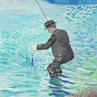A Famous Fisherman in Action art for sale
